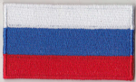 Russia Embroidered Flag Patch, style 04.